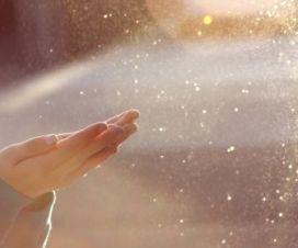 water sun hands